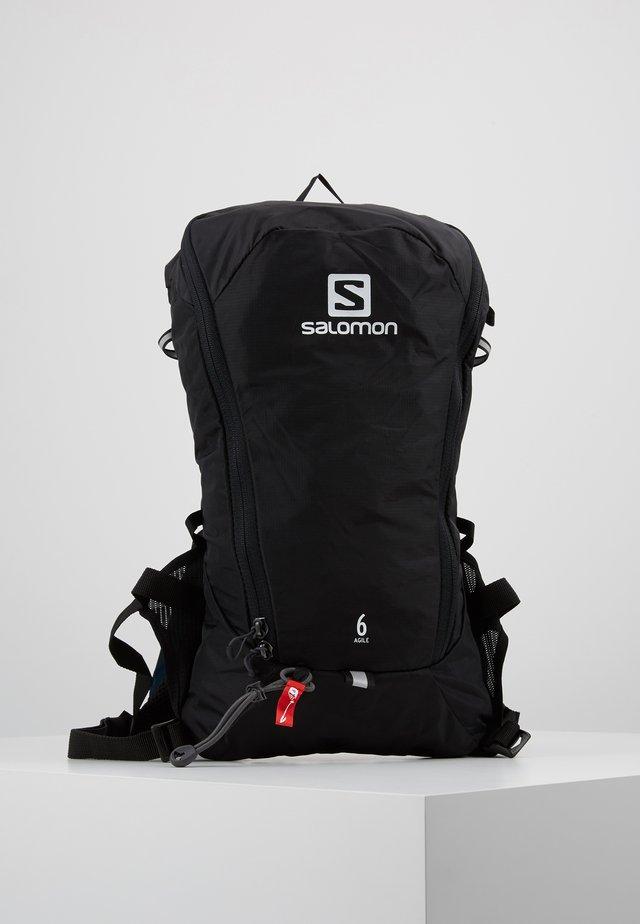 AGILE SET - Plecak z bukłakiem - black