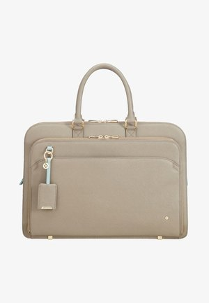 Laptop bag - Beige/Aquamarin