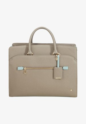 LADY BECKY  - Laptop bag - beige/aquamarine