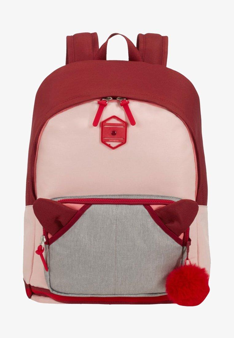 Samsonite - SCHOOL SPIRIT - School bag - burgundy pink mascot