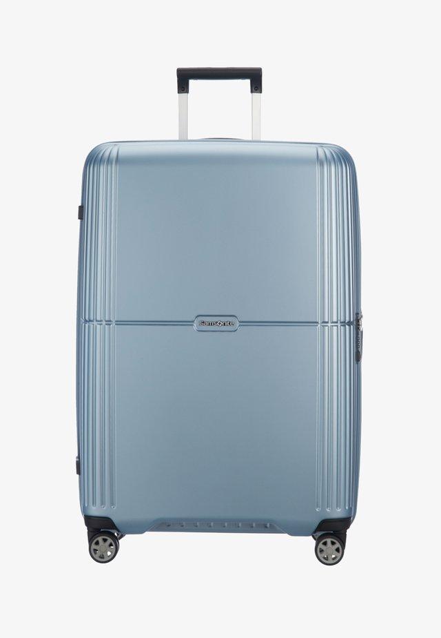 Wheeled suitcase - metallic blue
