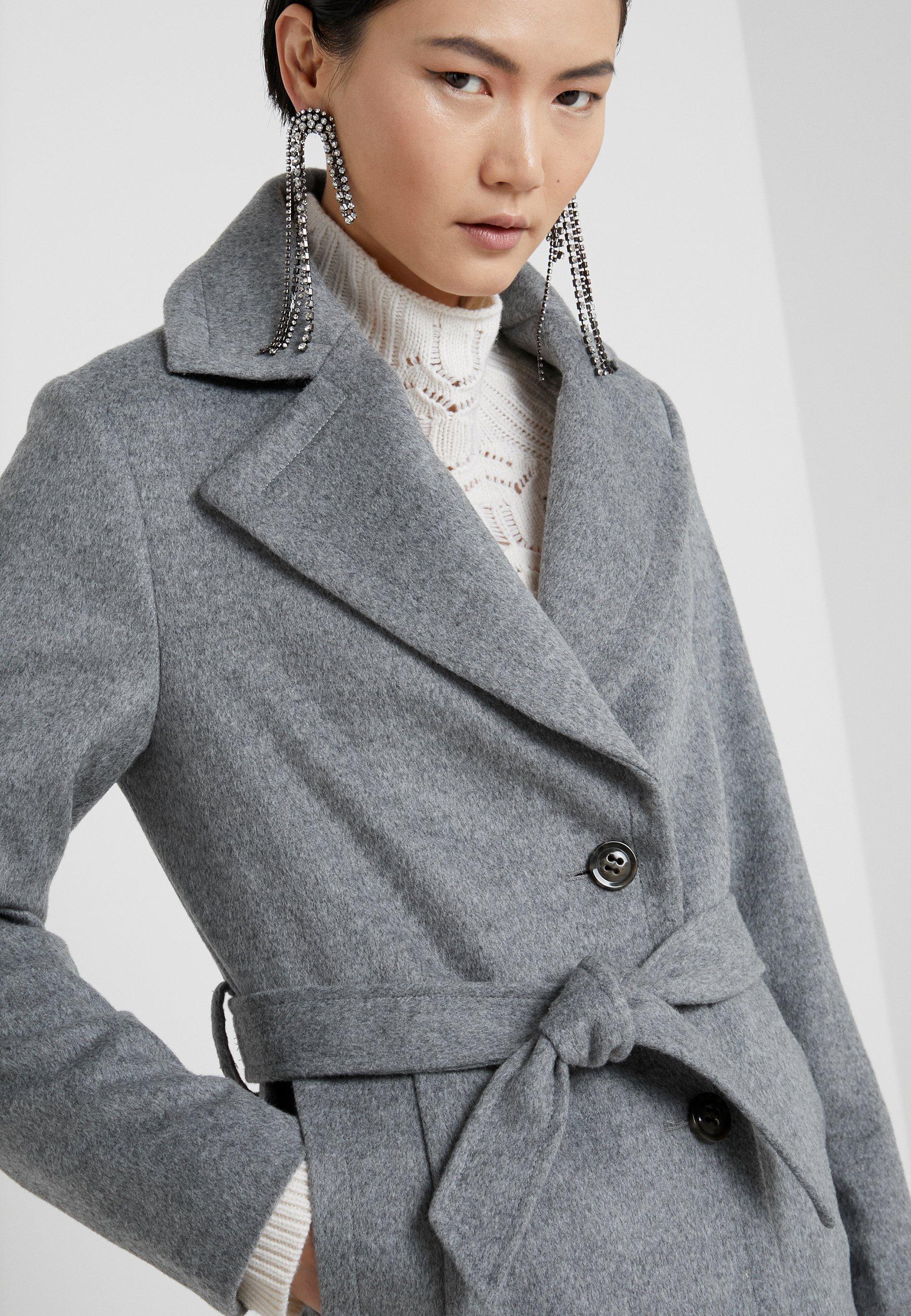 Sand Copenhagen Coat Clareta Belt - Wollmantel/klassischer Mantel Medium Grey