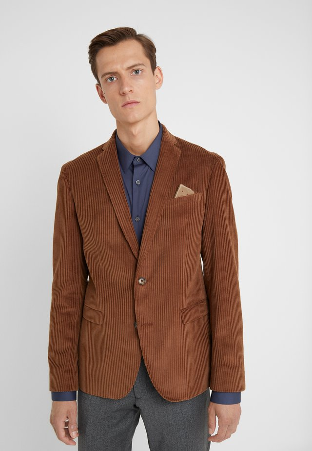 JONES NORMAL - Blazer jacket - dark camel