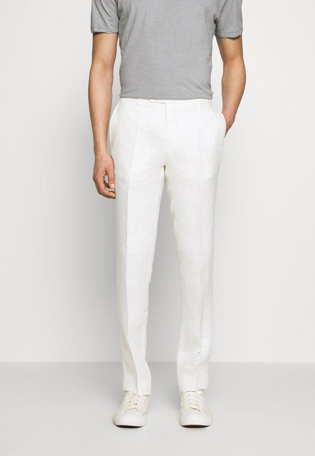 CRAIG NORMAL - Pantaloni eleganti - white