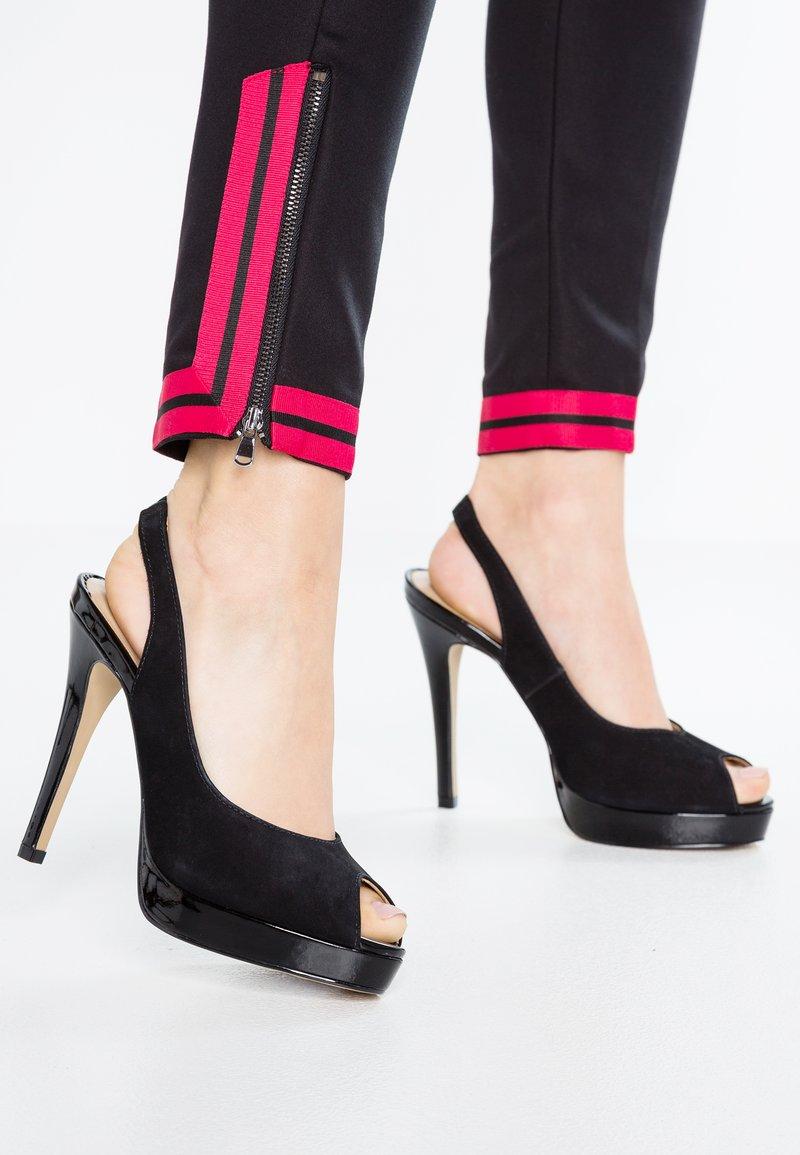 San Marina - NAVUSA - Peeptoe heels - noir