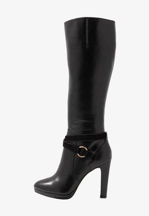 EDISA - Boots med høye hæler - black