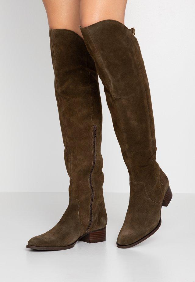 ALEANA - Over-the-knee boots - kaki