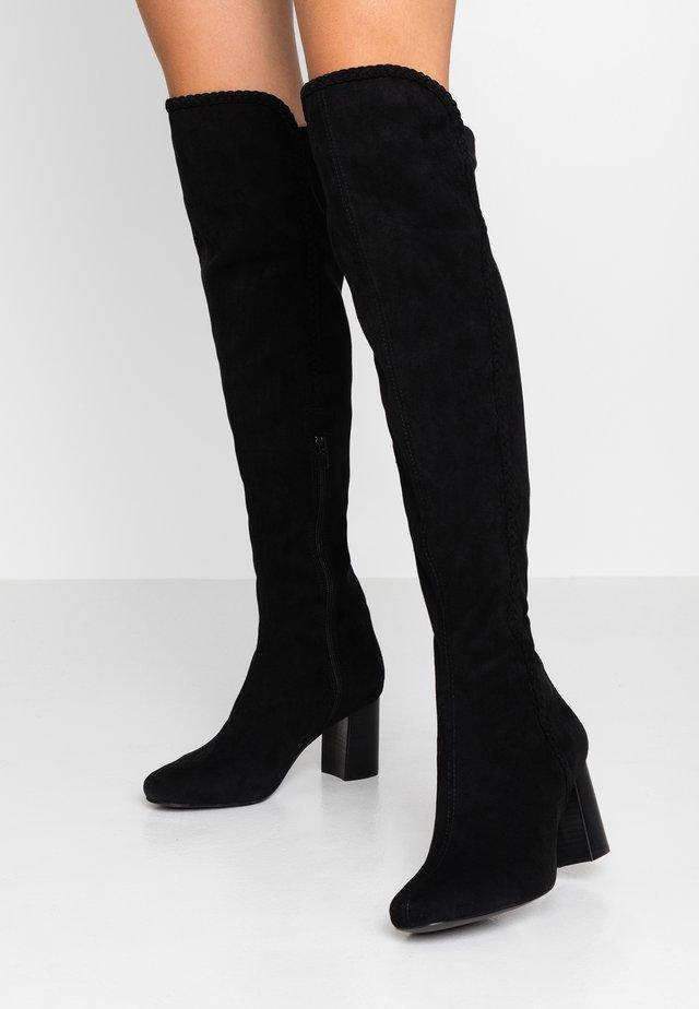 ALEGATAN - Overknee laarzen - black