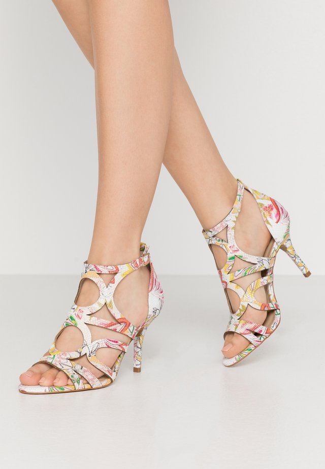 EMBO EDEN - High heeled sandals - blanc/multicolor