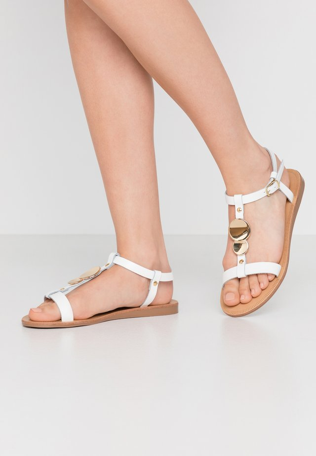 PRASCA - Sandals - blanc