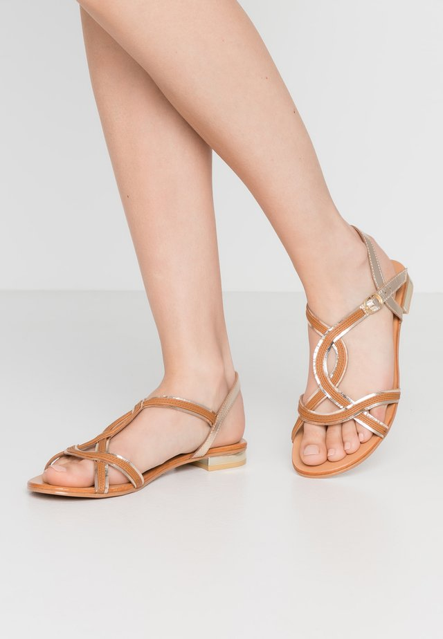 IZIAVA - Sandals - camel/or