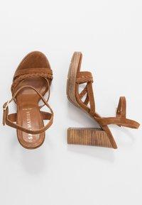 San Marina - DEBAINA - High heeled sandals - camel - 3