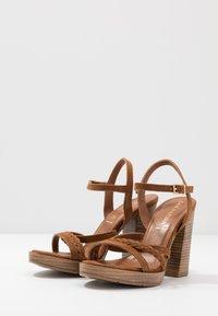 San Marina - DEBAINA - High heeled sandals - camel - 4