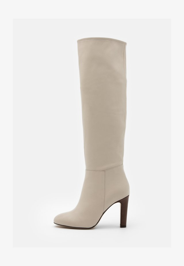 AGNA - High heeled boots - ivoire