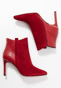 San Marina - ALEPAL - High heeled ankle boots - red - 3