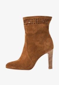 San Marina - AGNATELA - Kotníková obuv na vysokém podpatku - camel - 1
