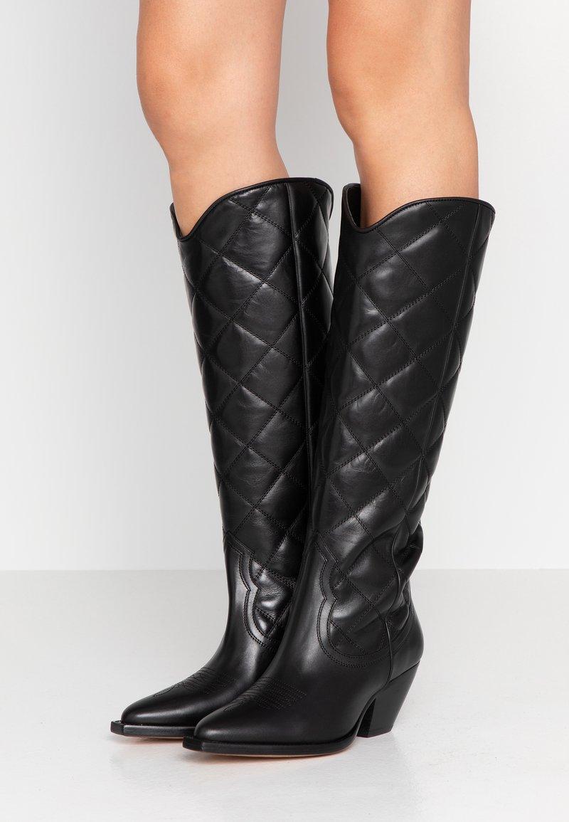 sandro - Cowboy/Biker boots - black