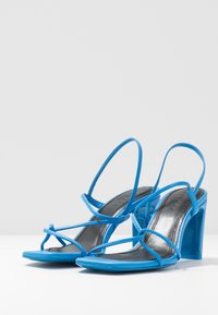 sandro - High heeled sandals - bleu - 4