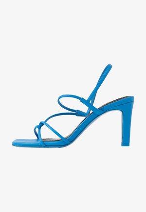 High heeled sandals - bleu