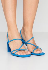 sandro - High heeled sandals - bleu - 0