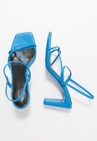 sandro - High heeled sandals - bleu - 3