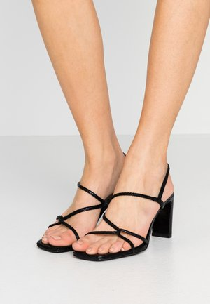 High heeled sandals - noir