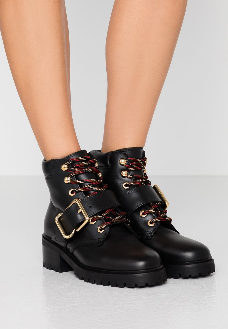 sandro - Lace-up ankle boots - black