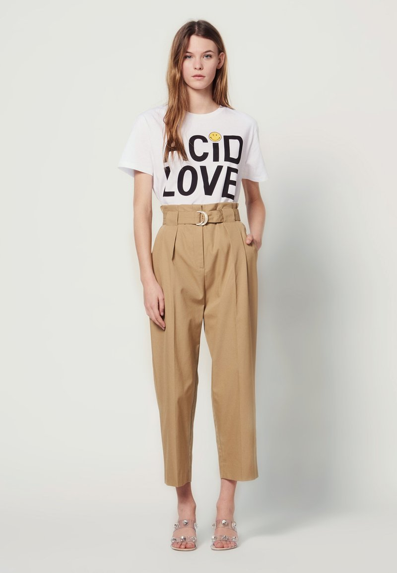 sandro - ARTHIS - Trousers - beige