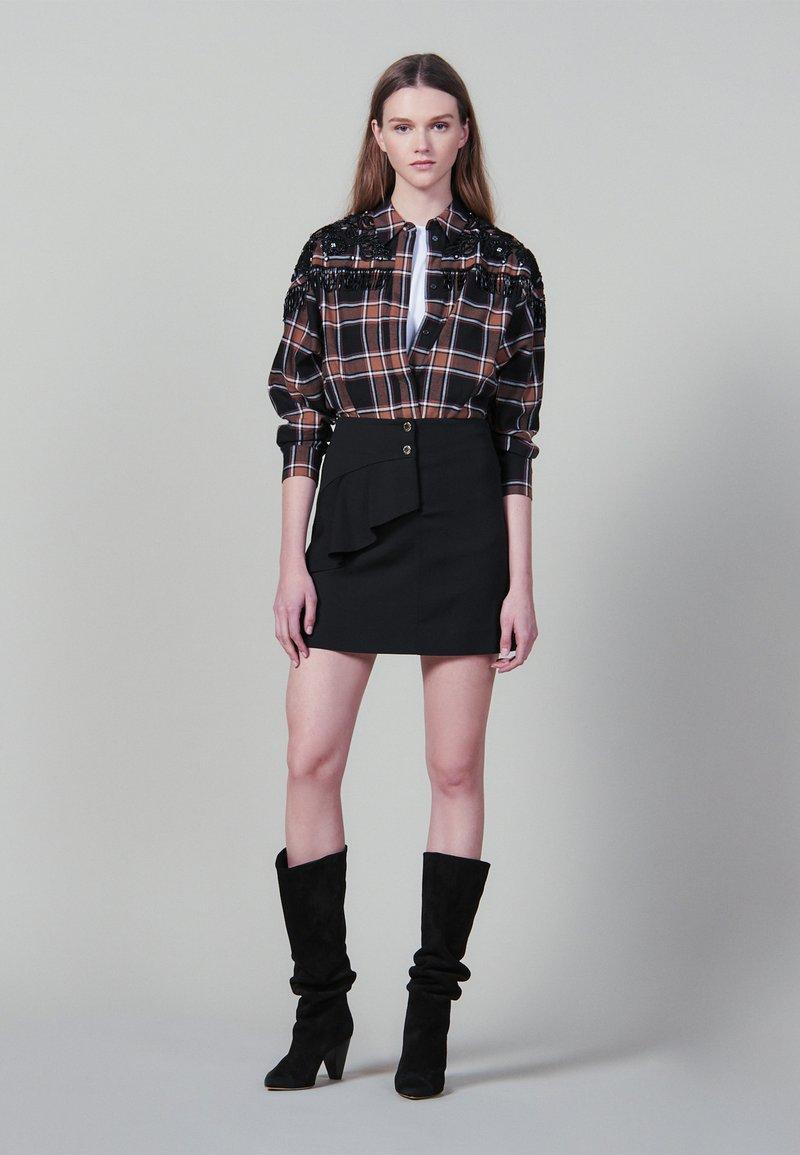 sandro - JANNE - Minikjol - black