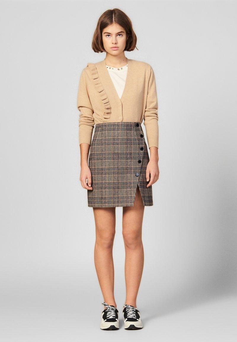 sandro - A-line skirt - camel