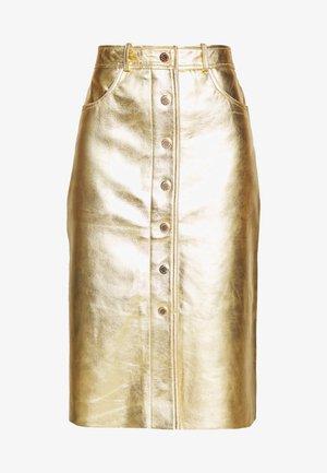 Spódnica ołówkowa  - gold