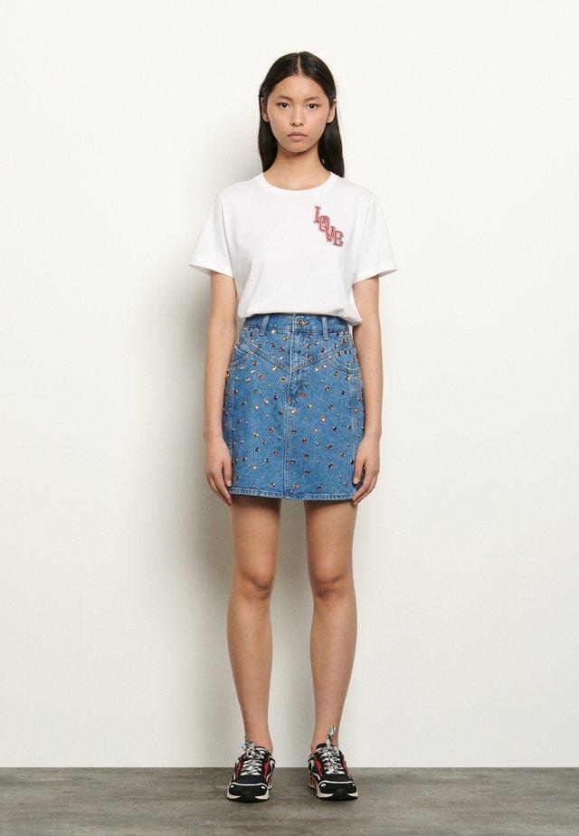 RUBYN - Denim skirt - bleu jean