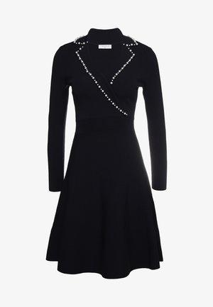 SUITY - Gebreide jurk - black