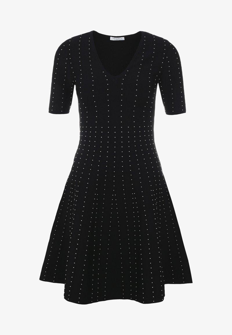 sandro - VANESS - Strikket kjole - black