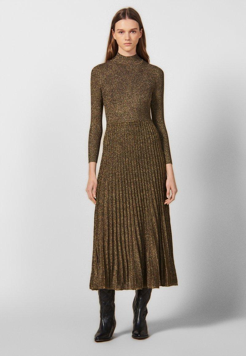 sandro - Day dress - gold