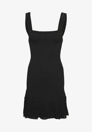 SMOCKY - Stickad klänning - noir
