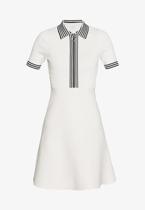 PAULZY - Stickad klänning - ecru