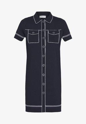 RALPHI - Stickad klänning - marine