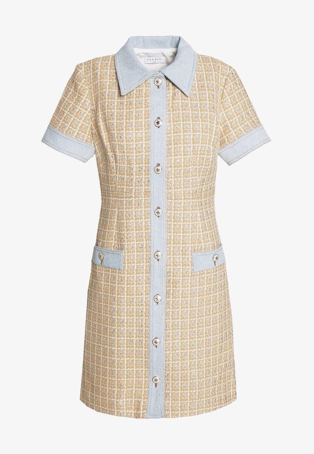 MELLA - Skjortklänning - beige