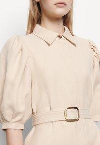 sandro - Shirt dress - beige - 4
