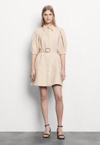 sandro - Shirt dress - beige - 0