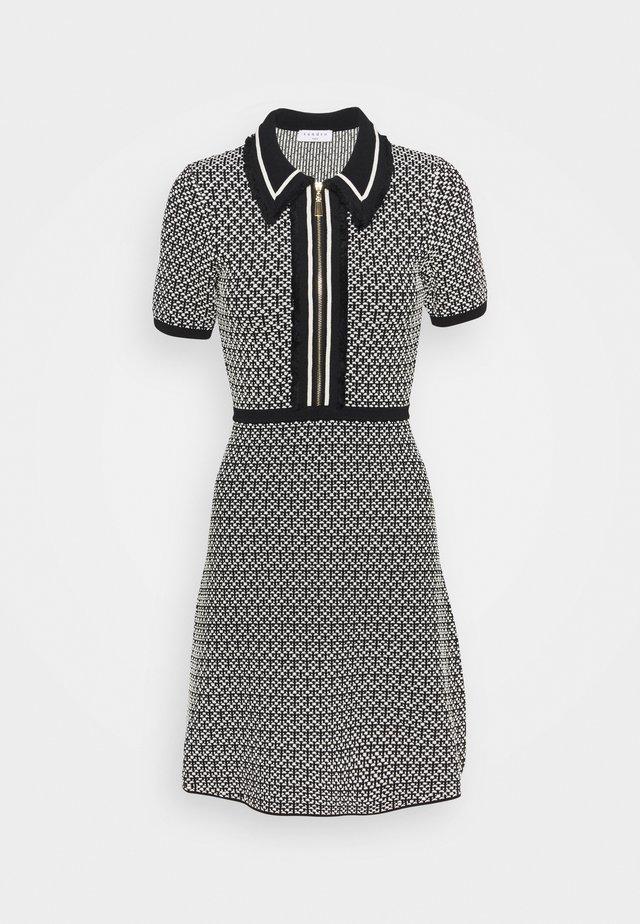 POLIE - Day dress - noir/blanc