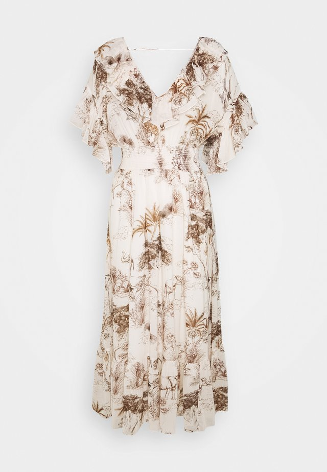 JOLAY - Sukienka letnia - ecru/marron