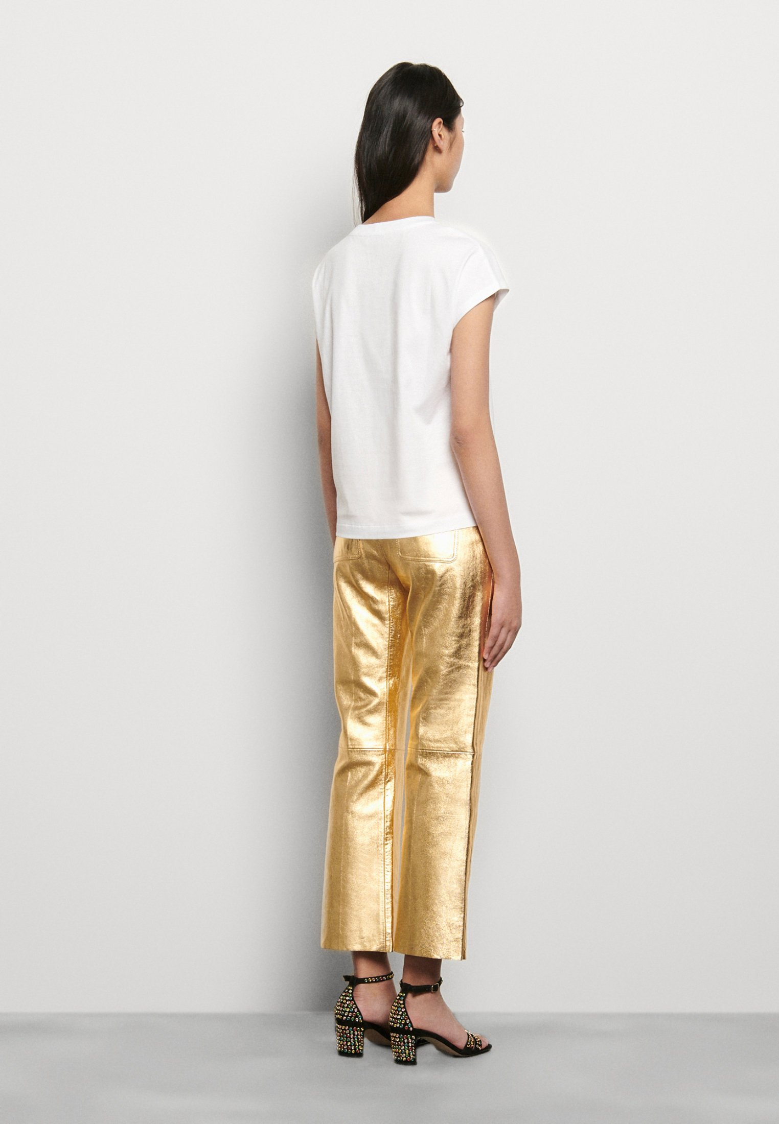 sandro T-shirt z nadrukiem - blanc