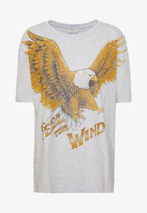 EAGLE - T-shirt print - gris