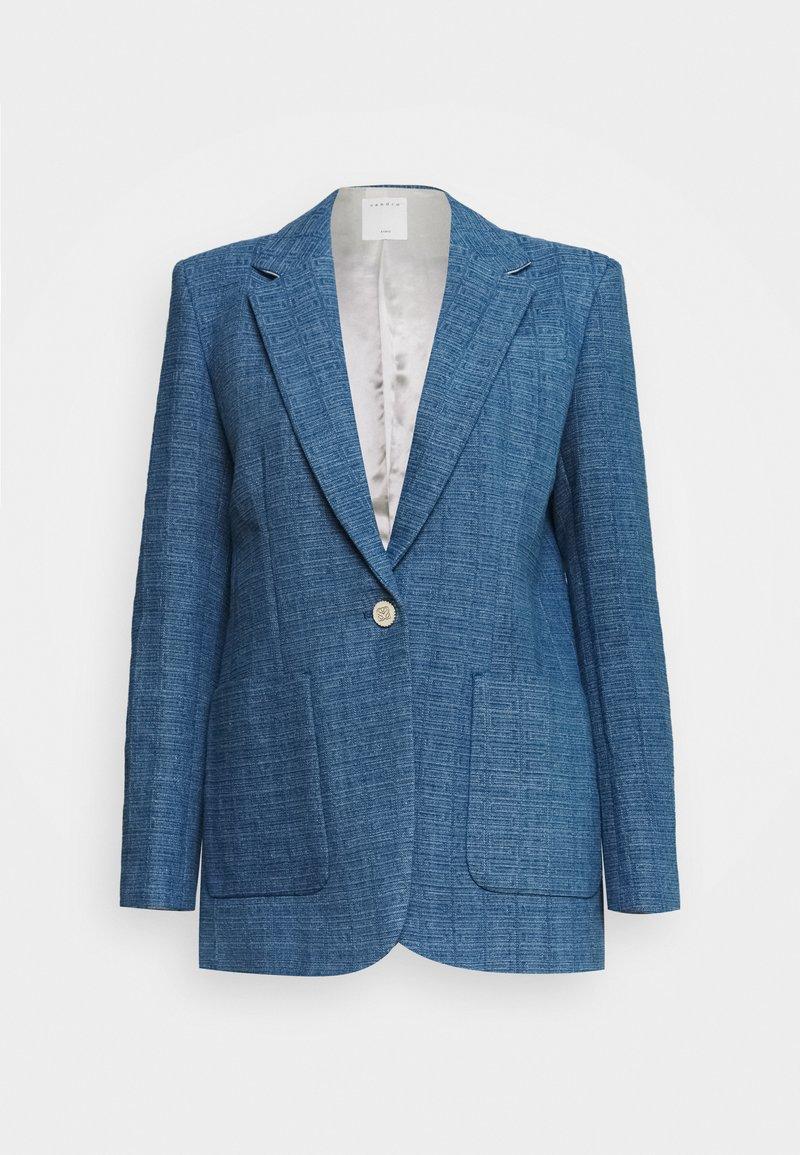 sandro - Blazer - blue denim