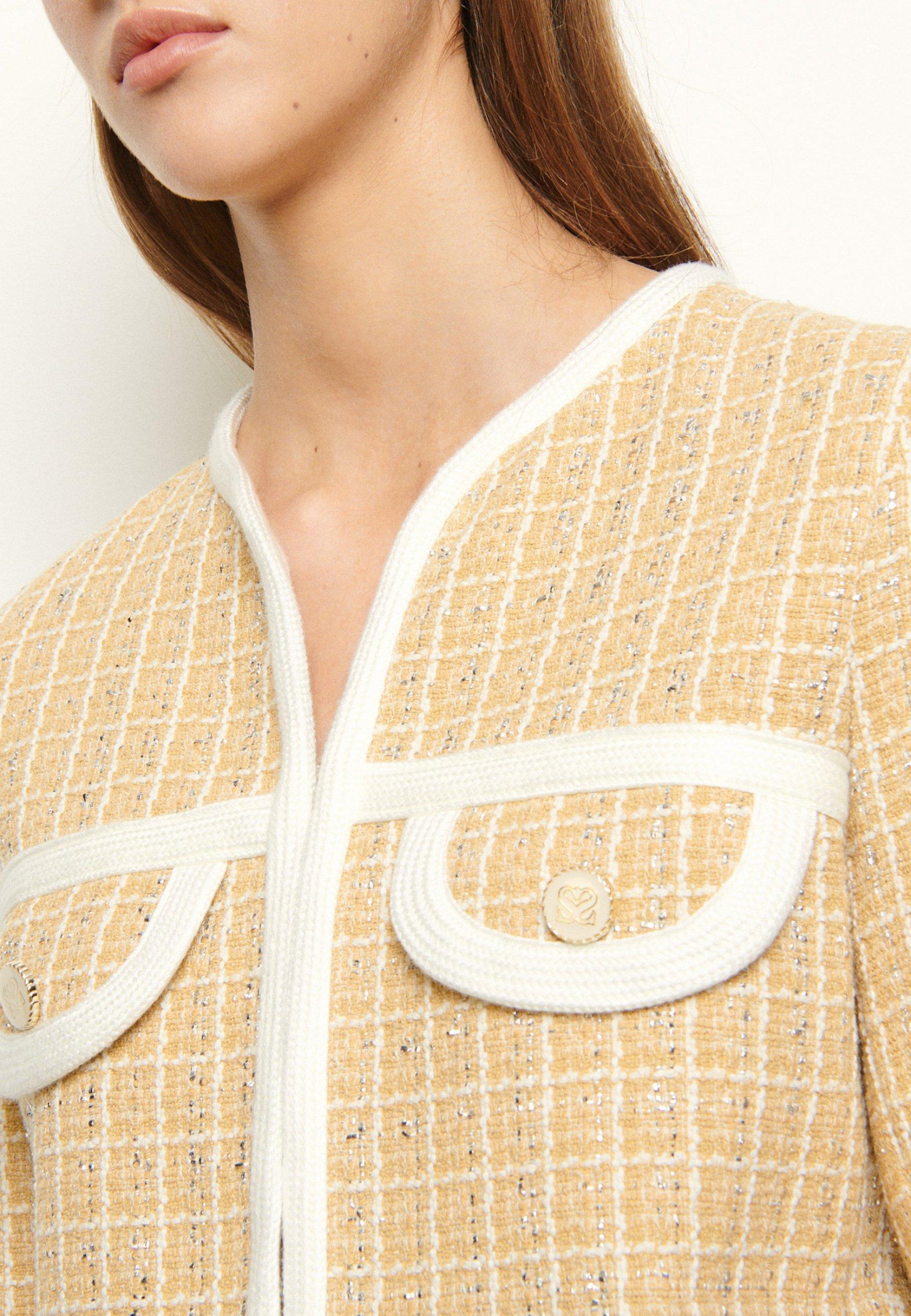 sandro Krótki płaszcz - beige