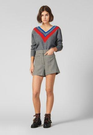 STRIPEY - Stickad tröja - grey