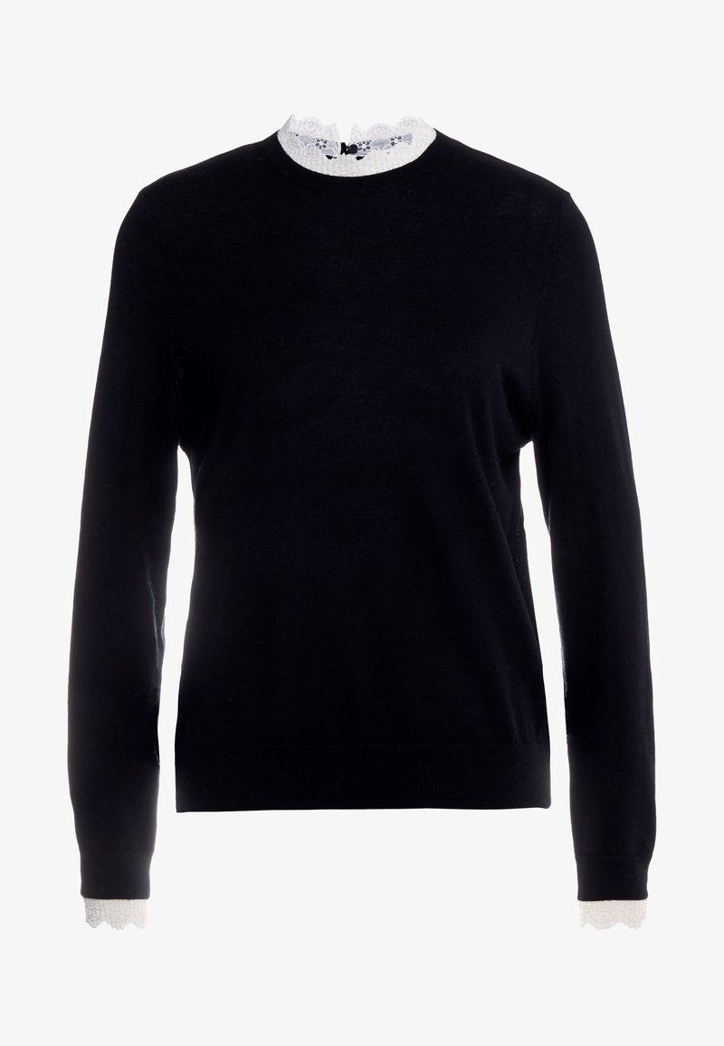 sandro - Stickad tröja - black