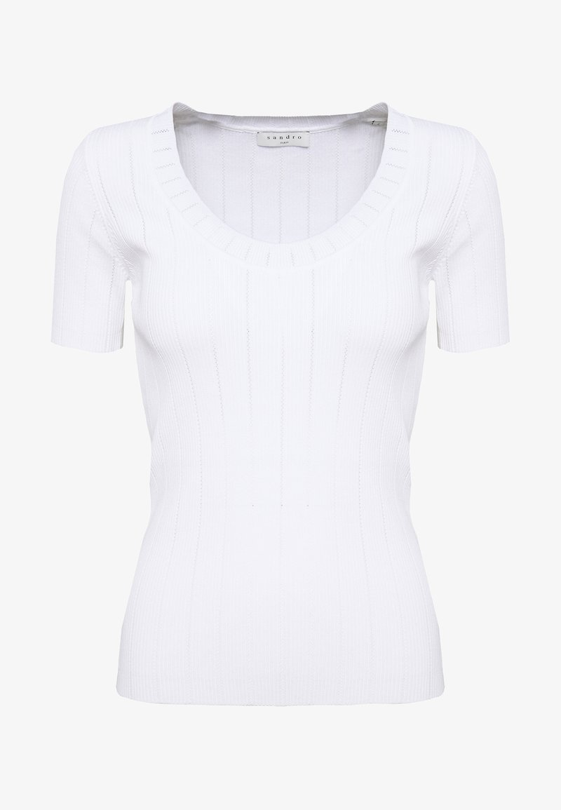 sandro - T-shirts basic - blanc